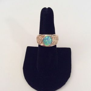 Other - Men's 14k Gold Opal Ring